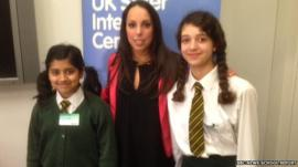 Beth Tweddle with School Reporters from The St Marylebone CE School