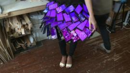The skirt made of smartphones