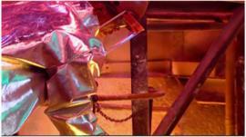Worker in smelter