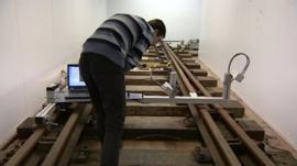 Student at rail college in Birmingham