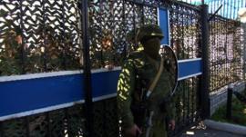 Scene at Sevastopol navy HQ