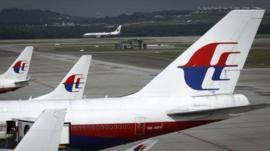 Malaysia Airlines Boeing 737 passenger plane prepares to take off at Kuala Lumpur International Airport in November 2012