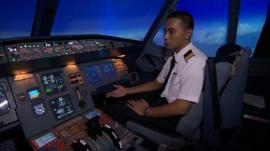Inside cockpit simulator