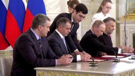 Moment of signing