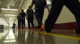 Undocumented immigrants detained at Stewart Detention Center in Georgia.