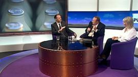 Tim Harford, Andrew Neil and Nadine Dorries