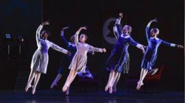 Dancers from Nanny McPhee the ballet