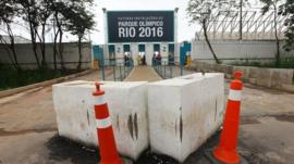 Cones outside the Rio Olympic park