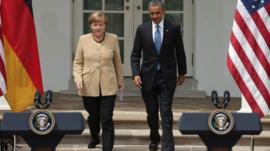 German Chancellor Angela Merkel and US President Barack Obama
