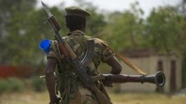 Soldier in South Sudan