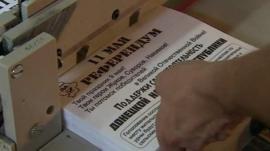 Ballot papers for Ukraine referendum