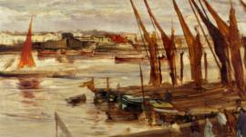 A Whistler painting of the Thames
