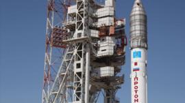 Russian Proton M rocket