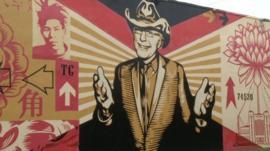Tony Goldman graffiti in Wynwood.