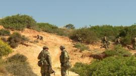Army reservists in training