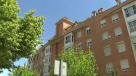 The apartment building where the arrests took place