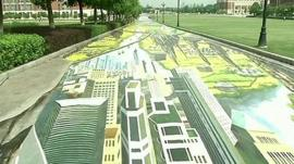 Part of the 3D painting in Nanjing