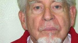 Rolf Harris police mugshot