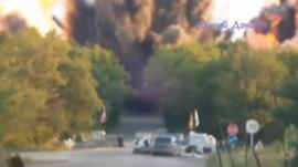 Still from amateur footage uploaded on 10 July 2014 purports to show