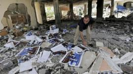 Remains of home for disabled in Gaza