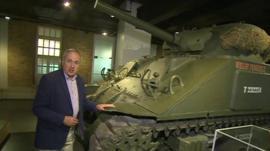 Robert Hall with tank