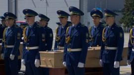 Ceremony at Kharkiv airport