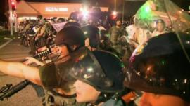 Armed police in Ferguson