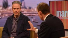 Jon Stewart and Andrew Marr