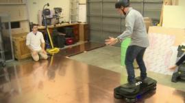 Richard Taylor on hoverboard