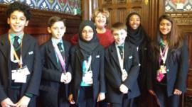 MP Karen Buck with Westminster Academy School Reporters