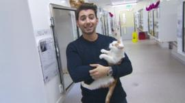 Ricky and a cat