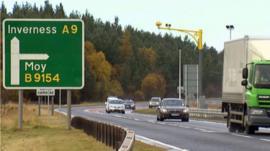 Traffic on the A9