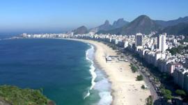 The beach in Rio