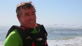 Jeff Clark surfed the Mavericks