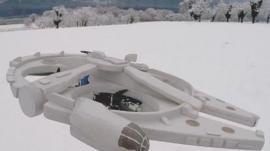 Star Wars fan's Millennium Falcon drone