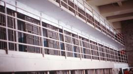 Interior of a US prison