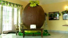 A seven-foot (2.1-metre) tall Easter egg.
