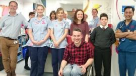 Martin with the hospital team