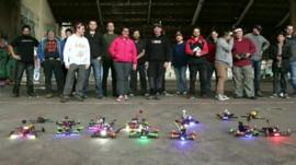 Drone racers in Australia