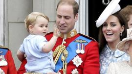 Prince George and his parents