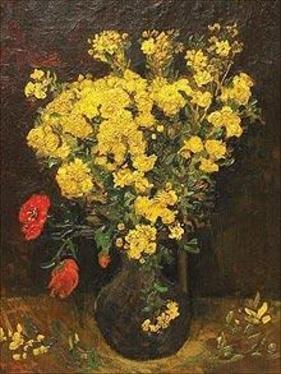 Poppy Flowers/Vase And Flowers by Van Gogh - courtesy Mahmoud Khalil museum