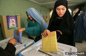 Women voting in Kabul, 2005