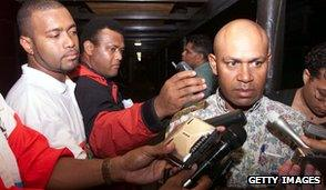 George Speight, self-declared PM, holds news conference May 2000