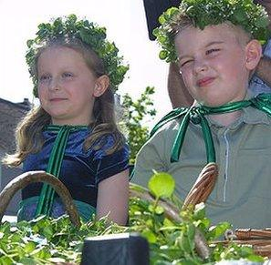 Watercress king and queen