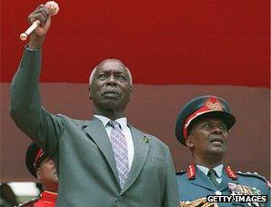 Daniel arap Moi marks 17 years in power, 1995