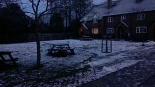Snow that settled overnight in Watlington