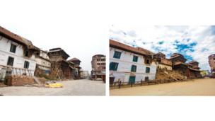 The nine storey palace in Kathmandu Durbar Square,