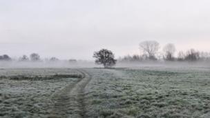 A misty morning at Minster Lovell