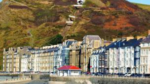 Wendy Stephens snapped the sea front at Aberystwyth with the cliff railway in the background