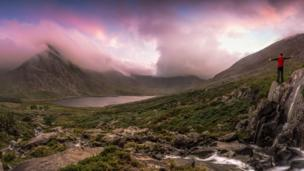 Ogwen Valley at sunset